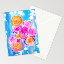 Modern Roses Stationery Cards