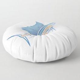 Tribal Sailfish Floor Pillow