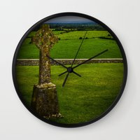 cross Wall Clocks featuring Cross by Ashley Hirst Photography