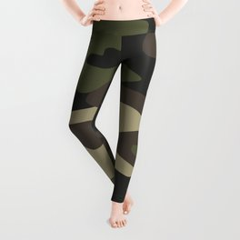 military camouflage-4k Leggings
