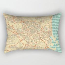 Valencia Map Retro Rectangular Pillow
