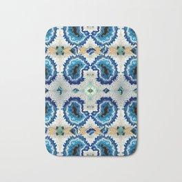 Stone pattern (Blue&Gold) Bath Mat