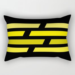 Yellow lines on black background Rectangular Pillow