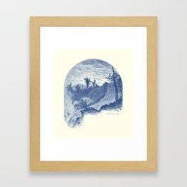 Lower Falls, Ticonderoga (cyan) Framed Art Print