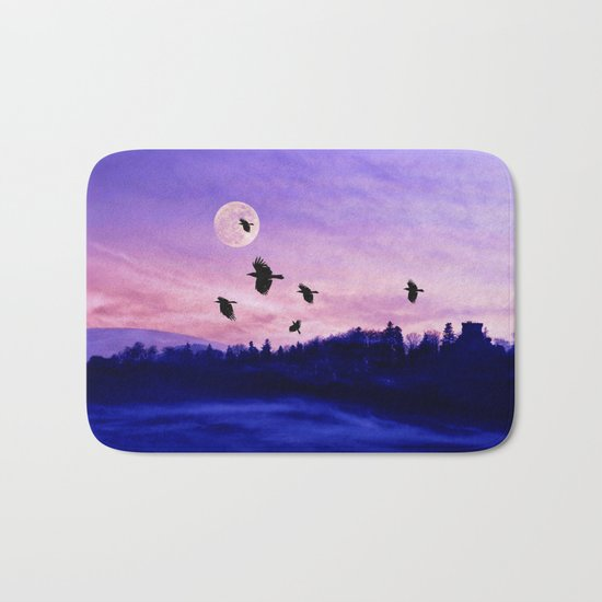 Crow moon Bath Mat