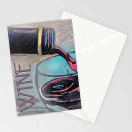 A Little Wine Poster Stationery Cards