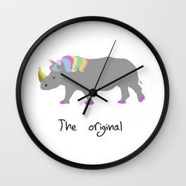 unicorhino - the original Wall Clock