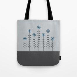 Spring Shoots (Charcoal Black, Dove Grey, Dusk Blue) Tote Bag