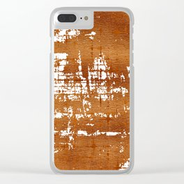 Bronze Abstract V Clear iPhone Case