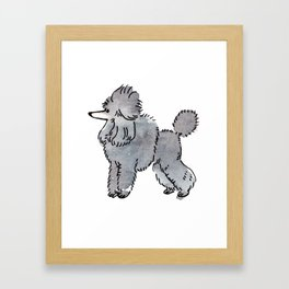 London - Dog Watercolour Framed Art Print