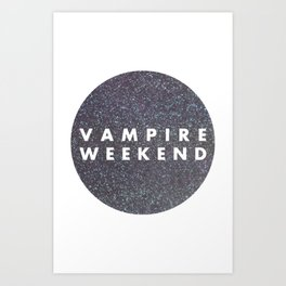 Vampire Weekend glitters logo Art Print