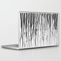 stripe Laptop & iPad Skins featuring Stripe by Jack Newbury