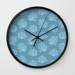 Sea Coral in Blue Wall Clock