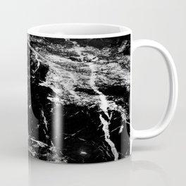Dark marble black white stone1 Coffee Mug