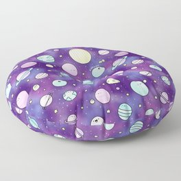 Need Some Space! Kawaii Galaxy Doodle Floor Pillow