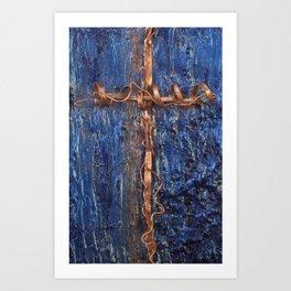 copper cross Art Print