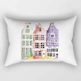 Amsterdam houses Rectangular Pillow