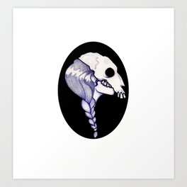 Witch Cameo Art Print
