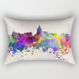 Fresno skyline in watercolor background Rectangular Pillow