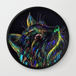 Color Cat Wall Clock