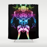 returns Shower Curtains featuring The Smoke Warrior Returns by Steve Purnell