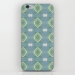 painterly green diamonds iPhone Skin