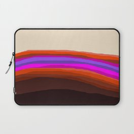 Orange, Purple, and Cream Abstract Laptop Sleeve