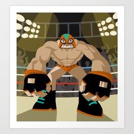 wrestling fighter masked wrestler Art Print