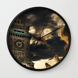 Custom House Clock Tower, Boston MA Wall Clock
