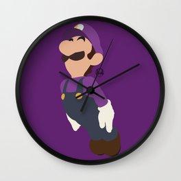 LUIGI(SMASH)WALUIGI Wall Clock