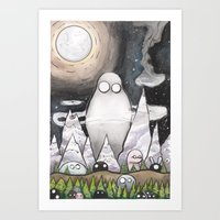 Friendly Forest Spirits Art Print