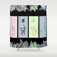 sylveon Shower Curtains featuring Evolutions, Part II by David Flamm