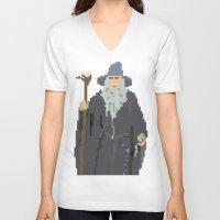 gandalf V-neck T-shirts featuring Gandalf Grey-bit by SamuelJay
