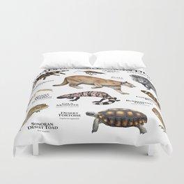 Animals of the Sonoran Desert Duvet Cover
