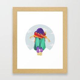 don't be sad baby Framed Art Print