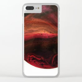 Red Planet on White Clear iPhone Case