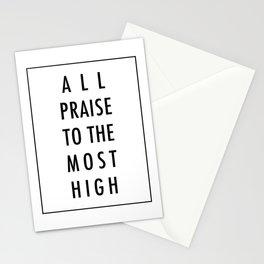 All Praise x Black Stationery Cards
