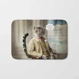Sir Sebastian Snow Leopard Bath Mat