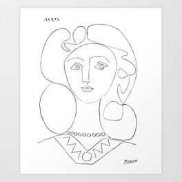 Pablo Picasso La Femme Au Collier (Woman With A Necklace) Art Print
