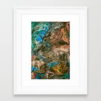 letter Framed Art Prints featuring Letter by Javier Perello