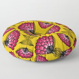 African Floral Motif Floor Pillow