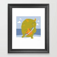 Planet Eating Monster Framed Art Print
