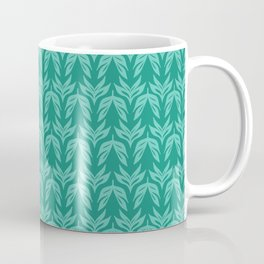 Nordic Folk Art Leaf Background Coffee Mug