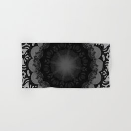 Dark Mandala #1 Hand & Bath Towel