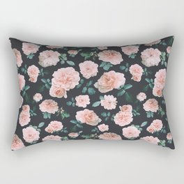 Light Pink Roses Flower pattern Rectangular Pillow