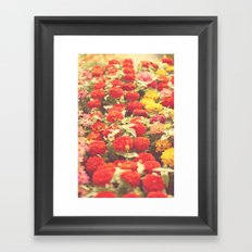 I'd like to lie in a bed of flowers Framed Art Print