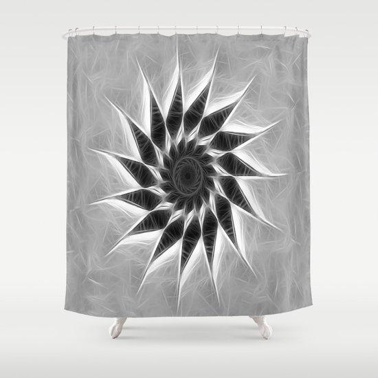 Gray Kaleidoscope Art 19 Shower Curtain
