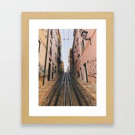 Lisbon Bica Funicular, Lisbon, Portugal Framed Art Print