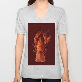 Pollution Awareness - Crawfish Unisex V-Neck