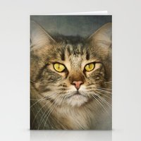 maine Stationery Cards featuring Maine Coon by Pauline Fowler ( Polly470 )